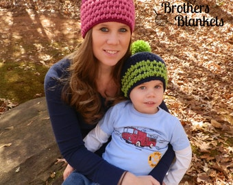 Instant Download- Crochet Pattern- Little Textures Beanie