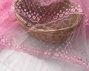 Width 55 inches flower lace fabric by the yard,Embroidery  tulle  wedding dress lace fabric,140CM,JY13063