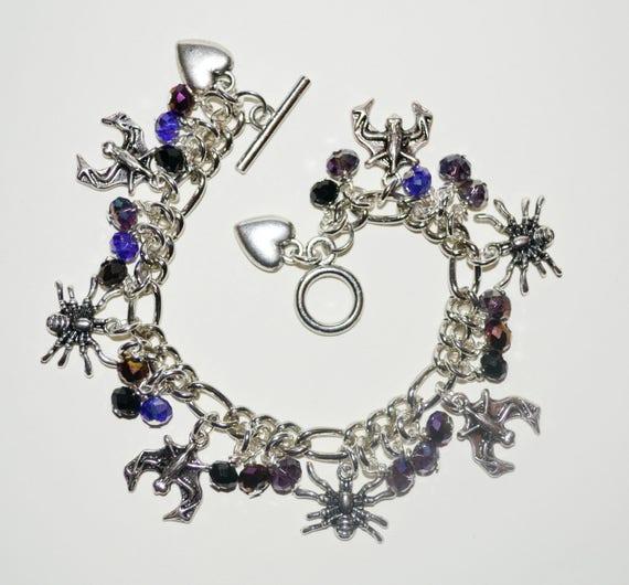 Charm Bracelet - Bats / Spiders
