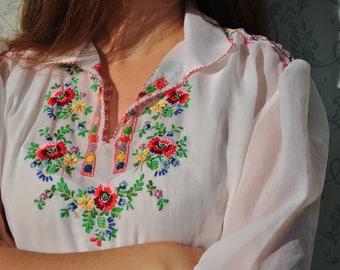 Peasant shirt, peasant top, peasant blouse, embroidered shirt, embroidered blouse, Hungarian blouse, Hungarian top summer, boho clothing