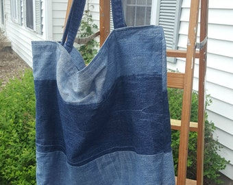 Custom Denim Tote Made from Your Clothing