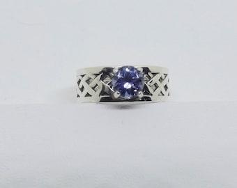 1.15 ct Blue Violet Tanzanite Ring