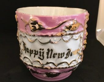Vintage Happy New Year Mug Made in Germany
