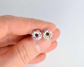CHILD and or small. Chips donuts, gourmet gem, sweet jewelry creation in polymer clay, polymer clay Donuts, miniature food
