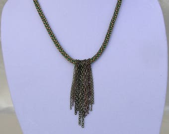 Metal Waterfall Necklace