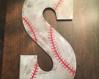 Custom initial baseball sign