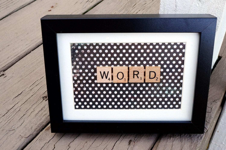 Personalisierte Scrabble Wort Rahmen Wählen Sie bis zu 7