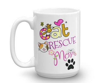 Best Cat Rescue Mom Ever Happy Mother's Day From Your Fur-Babies Mug