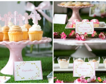 Floral Tent Cards - Food Labels