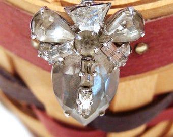 Vintage Pear Shaped Rhinestone Pin