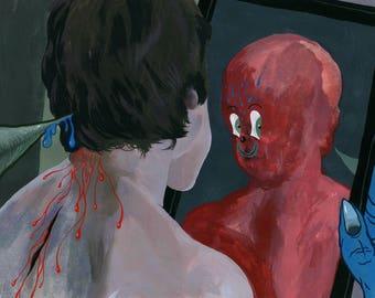Fake Mirror '' Original Painting