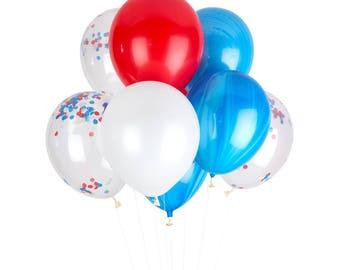 Patriotic Confetti Balloons