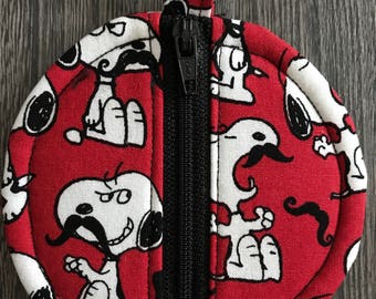 Snoopy themed circle pouch