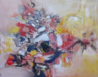 Abstract canvas painting acrylic #2