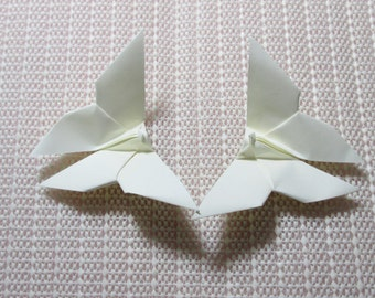 100 Paper Origami Butterflies_Cream Color (P 1), 4  x 4 inches (10 x 10 cm) only for  8.00 USD