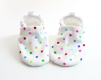lots-o-dots baby shoes, Soft Sole Baby Shoes, booties for girls