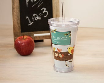 Teacher Gift - Personalized Acrylic Tumbler - Classroom in a tree