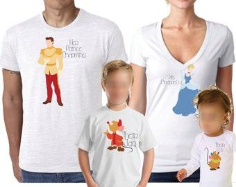 Disney Shirts, Family Shirt, Couples Shirts, Cinderella Shirt, Prince Charming Shirt,