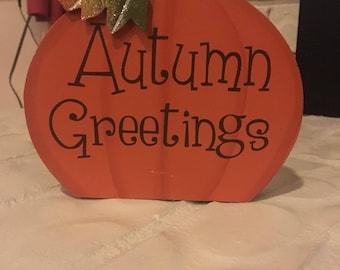 Autum greetings pumpkin