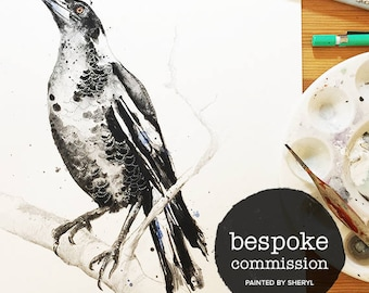 Bespoke commission watercolor paintint