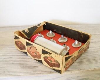 Vintage Cake Decorator Aluminum Cookie Press Decorator 7 Pc No 2804 6 Frosting Tips 1950s