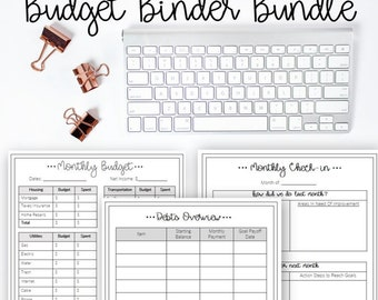 The Ultimate Budget Binder Bundle - Editable, Printable, Monthly Budget, Family Planner, Organize, PDF, Instant Download