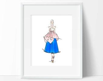 Delpozo - 003 Fashion Illustration PRINT 3 of 3 (8x10 inches), fashion wall art