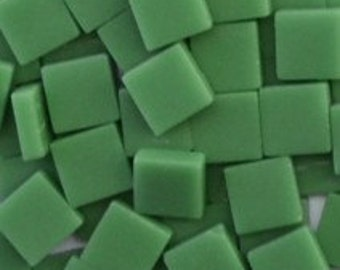 12mm Mosaic Craft Tiles - Spearmint Green Matte - 50g / 1.75 oz (approx 45 tiles)