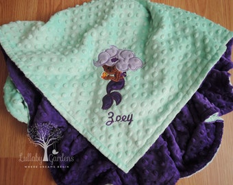 African baby blanket etsy personalized minky baby blanket african american mermaid appliqued blanket baby girl minky blanket negle Choice Image