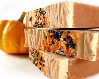Iced Pumpkin Soap, Cold Process Soap, Bar Soap, Handmade Soap, Pumpkin Soap, Phthalate Free Fragrance, Bakery Fragrance Soap, Spicy Soap