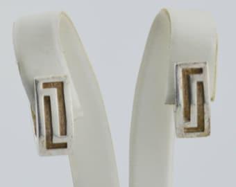 Sterling Silver 925 Mid Century Modern V Shape/Shaped Earrings