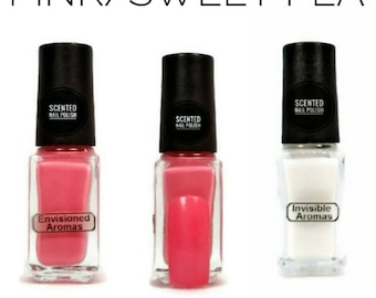 Two if by Scent Collection Pink/Sweet Pea Scented Nail Polish