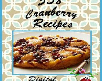 538 Cranberry Recipes E-Book Cookbook Digital Download