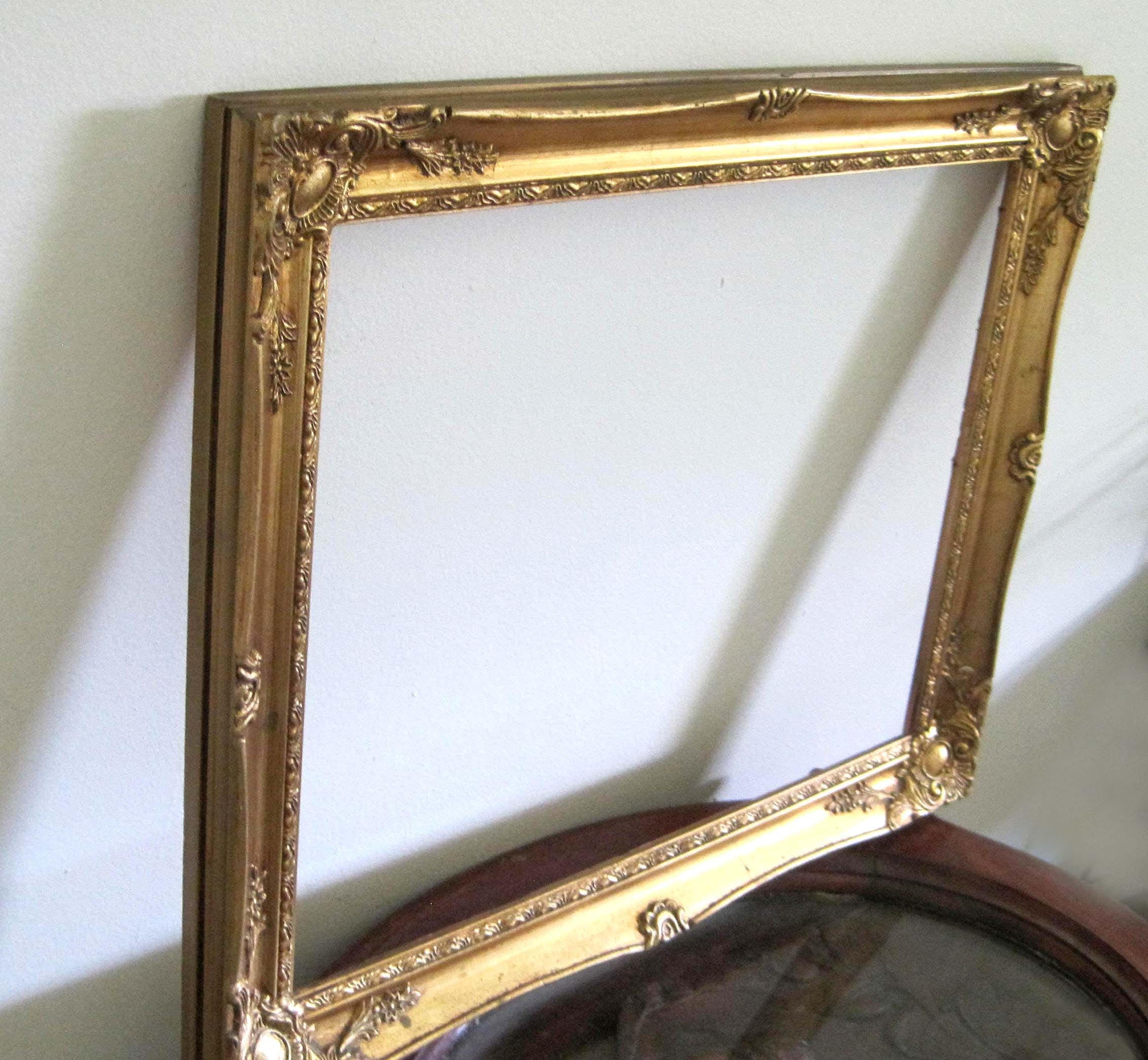 Large Gold Wood Frame, Vintage French Baroque Style, 22 x 18, Ornate ...