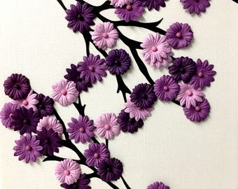 Spring Blossoms Purple Flower Wall Decor