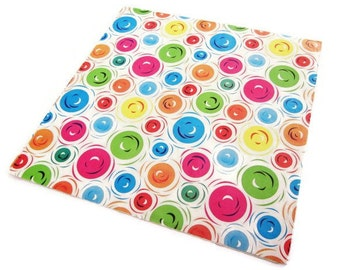 Vintage Wrapping Paper - Full Sheet Gift Wrap - Round We Go - Dots Circles