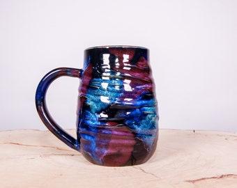 Galaxy mug, Stardust mug, Galaxy Handmade Pottery Mug