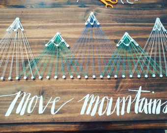 String art mountains signybfffffggfgggffttg6