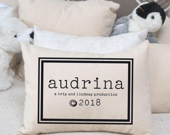 Trendy baby, personalized pillow, best baby girl gift, best baby boy gift, greatest adventure, new baby wishes, goddaughter, twin baby gift