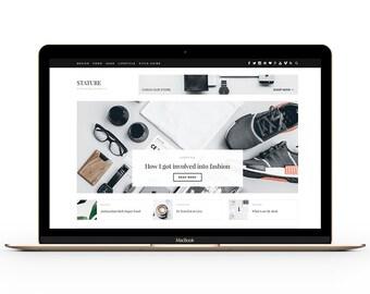 Wordpress Theme - Stature - responsive premade blog template design - A Lifestyle Blog & Magazine Theme