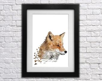 Fox Low Poly Print