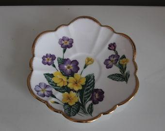 Vintage Floral Ring Dish