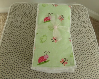 Ladybugs and Butterflies Burp Cloths