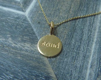 Karma necklace 18k gold plated silver