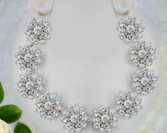 Bridal headband, Wedding Hair Accessories silver crystal hair vine, Bridal Headpiece, Flower wreath,  Hair Jewelry, Wedding headband Bridal