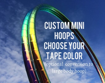 DECO MINIS - Poi Mini Hoops - Any Combination Dance & Exercise Mini Double Hula Hoop COLLAPSIBLE Push Button or solid