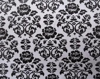 Black/White Floral Print Fabric