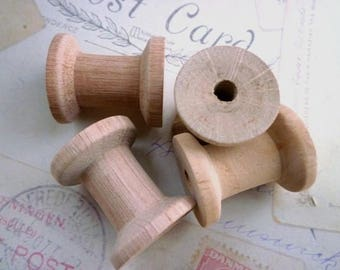 Large Wooden Mini Cotton Spools - Pack of 50 - WHOLESALE PRICE