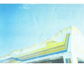 Pier - A3 Risograph print - brighton - beach - sea