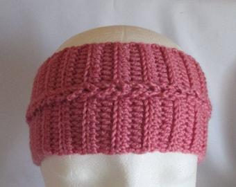 Headband Ear Warmer Pink Selfmade for KU ca. 54-57 cm Earwarmer Crochet Headband